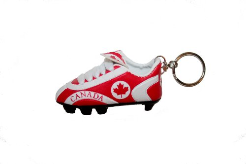 Canada Country Flag Soccer Shoe Cleat Keychain . High Quality .. - Canada Chain Ball