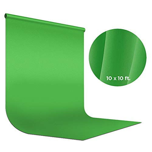 Photography Double Muslin - LimoStudio Green Chromakey Photo Video Studio Fabric Backdrop 10 x 10 ft, Background Screen, Pure Green Muslin, Double Layer with Fabric Protector, Photography Studio, AGG2035