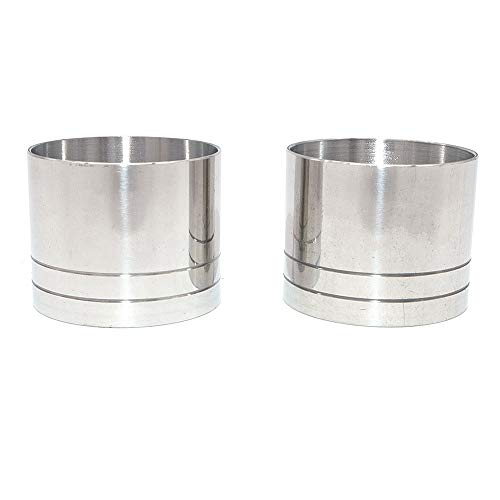 WINGONEER 2pcs Stainless Steel Cocktail Jigger Cup Liquor Measuring Cup Straight Cylindrical Measuring Cups Bartender Drink Mixer Party Bar Bartending Tools - 25mL/0.84oz