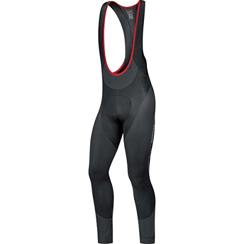 Gore Bike WEAR, Men´s, Thermo Padded Cycling bibtights with Suspenders, Gore Selected Fabrics, Oxygen Partial Thermo Long+, Size S, Black, WPOXYL by GORE WEAR