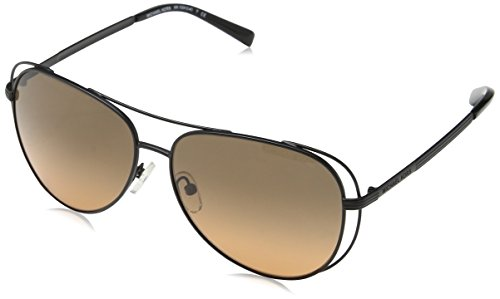 Michael Kors Women's Lai 0MK1024 58mm Black/Grey Orange Gradient - Kors Black Aviators Michael