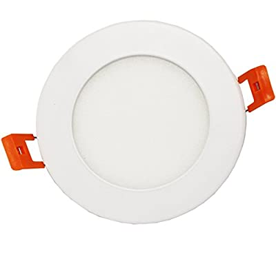 Westgate Lighting 9W 4 Inch Ultra Thin Slim LED Recessed Light - Dimmable Retrofit Downlight With Integrated Smooth Trim - Premium Ceiling Lights For Home Office Kitchen - 120V ETL