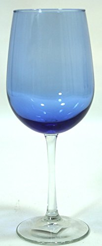 Cobaltroyal Blue Clear Stem Two-tone Wine Glasses - Set of 4
