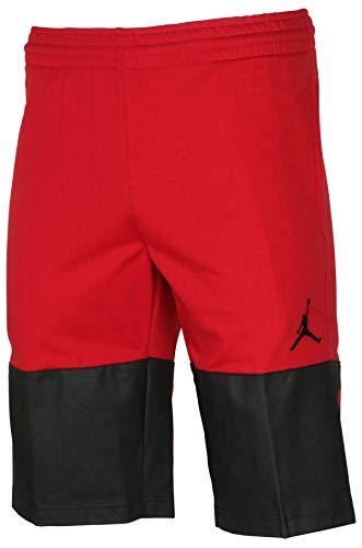 Nike Jordan Men's Flight Lite Casual Shorts-Gym Red/Black-Large