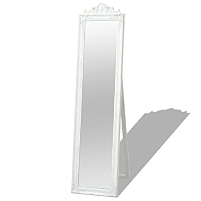 K Top Deal Full Length Floor Mirror Free Standing Mirror - Wood Frame, White - This item is located in USA. Usually take 5-8 business days to deliver to you. This beautifully designed, full-length mirror with an ornate frame will create a classic atmosphere in your hallway, bedroom, dressing room, cloakroom, etc. The antique-style mirror has a sturdy wooden frame, which has been meticulously crafted in a decorative Baroque pattern. - mirrors-bedroom-decor, bedroom-decor, bedroom - 31PhVpN86kL. SS400  -