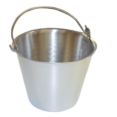Premium Stainless Steel Pail, Vet/milk Bucket, Made in Usa, Completely Seamless & Thick, 9-20 Qt Sizes (16 Qt, Pail) by The Dairy Shoppe
