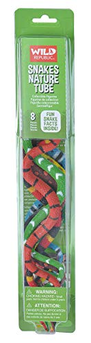 Wild Republic Snakes Nature Tube, Fake Snake, Kid Gifts, Reptile Party Supplies, 8-Piece
