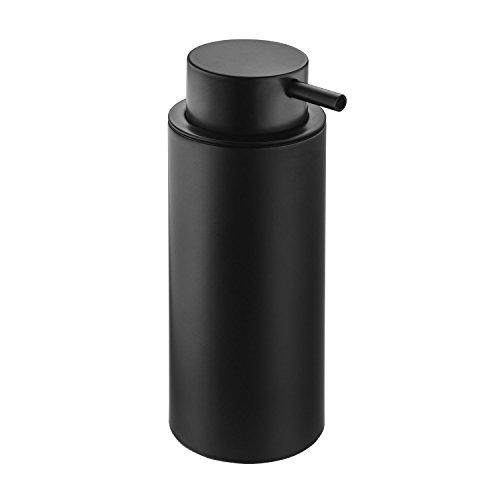 (Britta Free Standing Pump Soap Lotion Dispenser for Bath, Kitchen Brass Coated (Matte Black))