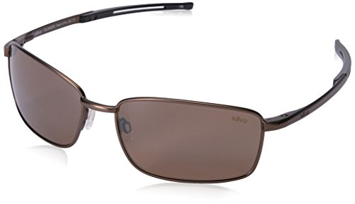 Revo Re 5000x Transport Pilot Polarized Aviator Sunglasses, Brown Terra, 60 - Curved Sunglasses Prescription