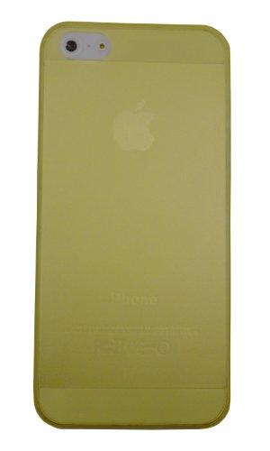 smartec24® iPhone 5 TPU Softgrip Case in gelb inkl. 1x Displayschutzfolie. 100% passgenauer kantenumgreifender Schutz