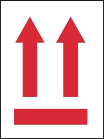 NMC IHL3AL 4'' x 3'' Pressure Sensitive Paper Up Arrows Label, 6 Rolls of 500 pcs