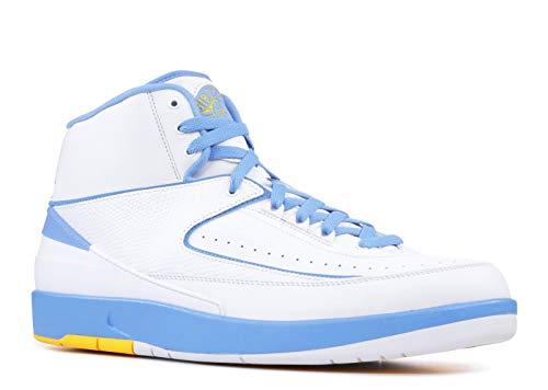 - Air Jordan 2 Retro 'Melo' - 385475-122 - Size 9 White, University Blue