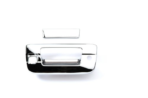 Putco 401094 Chrome Trim Tailgate Handle Cover with Camera and Keyhole Opening (Putco Jeep Trim Cover)