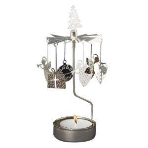 Joyous Christmas Symbols Rotary Candleholder