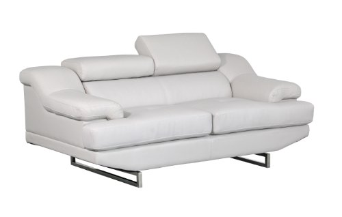 Global Furniture Natalie Loveseat, Light Grey and Wagner