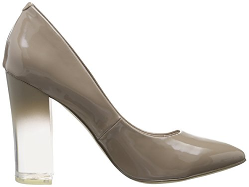 Pump Bianco Beige Toe Nougat 49287 Clear Closed Heels Women's 35 pERrEx