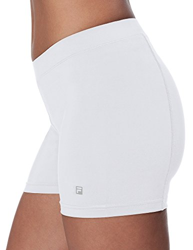 Fila Women's Ball Athletic Shorts, White, S