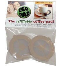 Ecopad 2-Pack The Permanent Refillable Coffee Filter for The Classic Senseo Models HD7810-HD7819 4 Filters on Each Pack Create Your own Custom Strength and Flavor