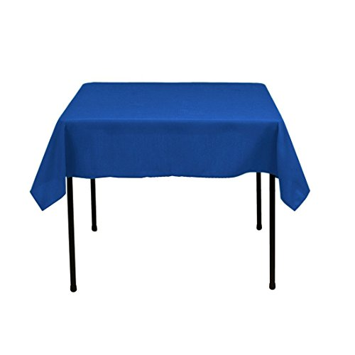 Gee Di Moda Square Tablecloth - 52 x 52 Inch - Royal Blue Square Table Cloth for Square or Round Tables in Washable Polyester - Great for Buffet Table, Parties, Holiday Dinner, Wedding & More -