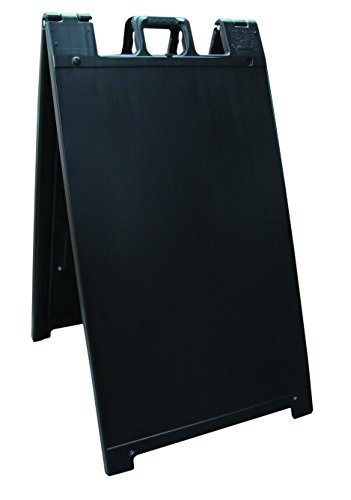 """Plasticade Signicade Curb Sign / A-Frame 24x36"""" Color:Black"""