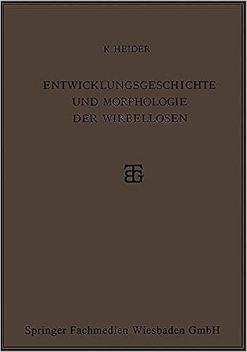 Book Entwicklungsgeschichte und Morphologie der Wirbellosen
