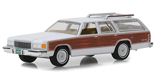 (Greenlight 29930-F Estate Wagons Series 2-1989 Mercury Grand Marquis Colony Park - White 1:64 Scale)