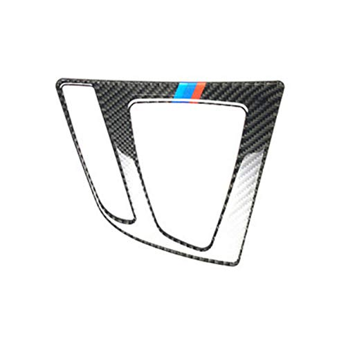 Lolosale B-GF-CB Carbon Fiber Car Door Gear Shift Control Insert Panel Trim Decor Emblem Cover For BMW 3 Series F30 F34