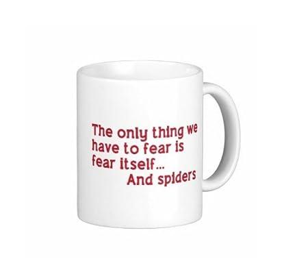 11 OZ la única cosa que temer es miedo mismo... Y arañas taza de ...