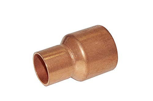 """Copper Pressure Coupling Bell Reducer,1-1/8"""" to 3/4"""" Copper Fitting Reducer with Male Sweat Connect and Female Sweat Socket, C x C Copper Pressure Pipe Fitting Plumbing Supply"""