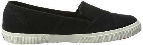 Superga 2210 Cotw, Mocasines para Mujer Schwarz (Black-White)
