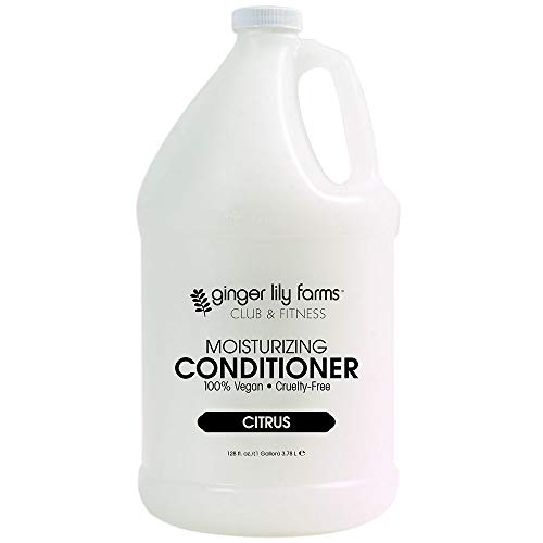 Ginger Lily Farms Club & Fitness Citrus Moisturizing Conditioner, 100% Vegan, Paraben, Sulfate, Phosphate, Gluten and Cruelty-Free, 1 Gallon