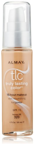 Almay TLC  Truly Lasting Color Makeup, Honey 08 320, 1-Ounce Bottle