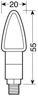 Compatible con Husqvarna SM 610 y par de Intermitentes LED 12 V Carbono Look homologados para Moto Lampa 90100 Atom luz Naranja indicaci/ón de direcci/ón