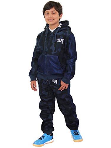 Kids Tracksuit Boys Girls Designer's #Selfie Camouflage Jogging Suit 7-13 Years