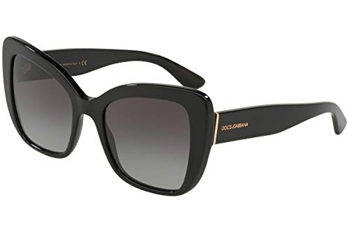 Dolce & Gabbana Women's 0DG4348 Black/Grey Gradient One Size (Gabbana Sunglasses Dolce &)