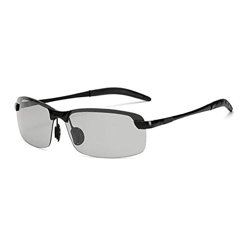 Intelligent Color Polarized Sunglasses Men Driving Glasses Sunglasses Driving (Black box color)