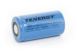 Tenergy C 5000mAh NiMH Flat Top Rechargeable Battery (NO TABS)