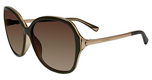 Sunglasses Nina Ricci SNR 052 Olive Green Yellow - Nina Sunglasses Ricci
