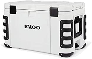 Igloo Leeward Marine Grade Lockable Insulated Fishing Ice Chest Cooler with Cutting Board, Fish Ruler, and Tie-Down...