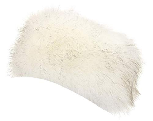 wonderful lifetime Unisex Faux Fur Headband Earwarmer Earmuff Ski Hat (White)