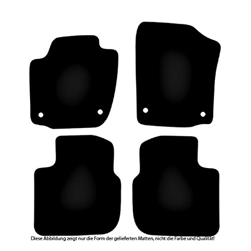 Passgenau f/ür Modell Siehe Details Rand Kettelung Schwarz Textiler Trittschutz B/är-AfC SK05545 Classic Auto Fu/ßmatten Nadelvlies Schwarz Set 4-teilig