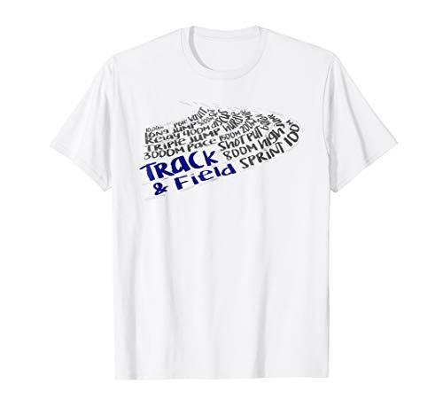 Track & Field Terms Word Cloud Art -