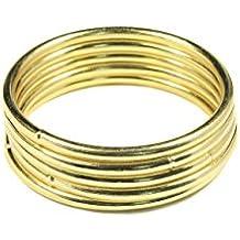 Bistore - Set of 5pcs Gold Dream Catcher Metal Hoops, (Dream Catcher Metal Rings) (2-inch gold)