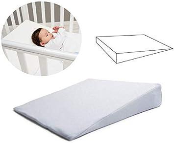 Cojín anti-reflujo para bebés (OEKO-TEX y Made in EU) - Cojín anti-humo y anti-plagiocefalia - Funda de almohada de algodón extraíble y lavable - Idea de regalo perfecta para la primera infancia