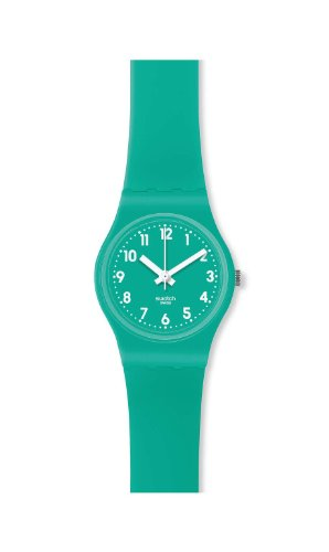 Swatch Mint Leave Mint Blue Silicone Ladies Watch LL115