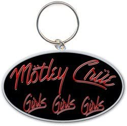 Motley Crue Shout At The Devil Pentagramma d'argento metallo Portachiavi ufficia Abbigliamento e accessori Donna: accessori