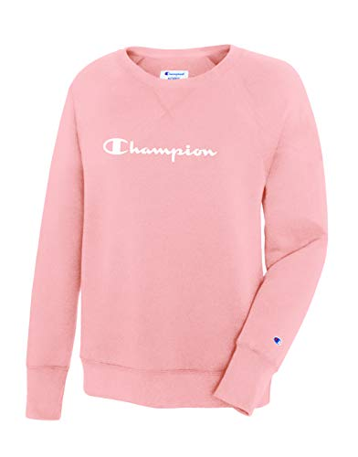 Champion Women's Fleece Boyfriend Crew Sweatshirt, Primer Pink X-Small ()