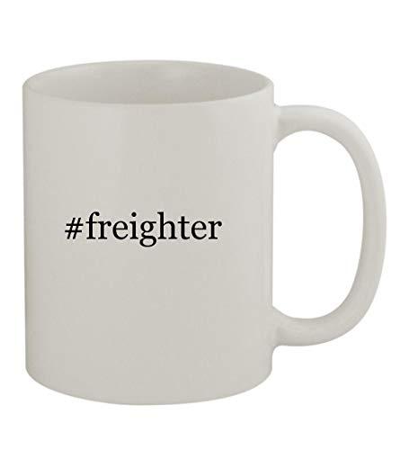 #freighter - 11oz Sturdy Hashtag Ceramic Coffee Cup Mug, White]()