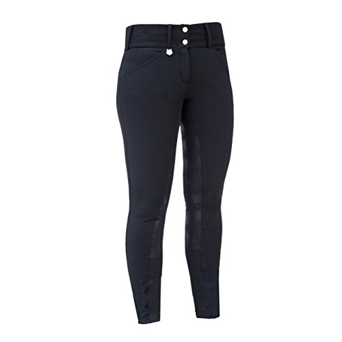 Horze Grand Prix Thermo Pro Women's Breeches Black 26 by Horze