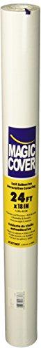 Review Magic Cover Self-Adhesive Shelf Liner, 18-Inch by 24-Feet, Solid White By Magic Cover by Magic Cover